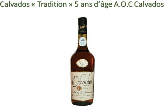Calvados « Tradition » 5 ans d'âge A.O.C Calvados