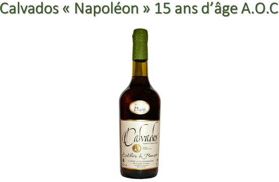 Calvados « Napoléon » 15 ans d'âge A.O.C