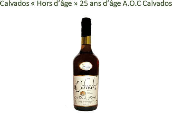 Calvados « Hors d'âge » 25 ans d'âge A.O.C Calvados