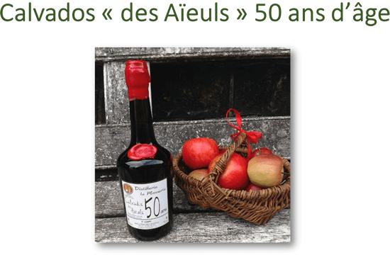 Calvados «des Aïeuls» 50 ans d'âge