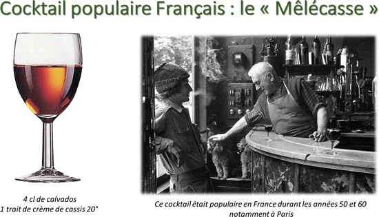 Cocktail populaire Français : le «Mêlécasse»