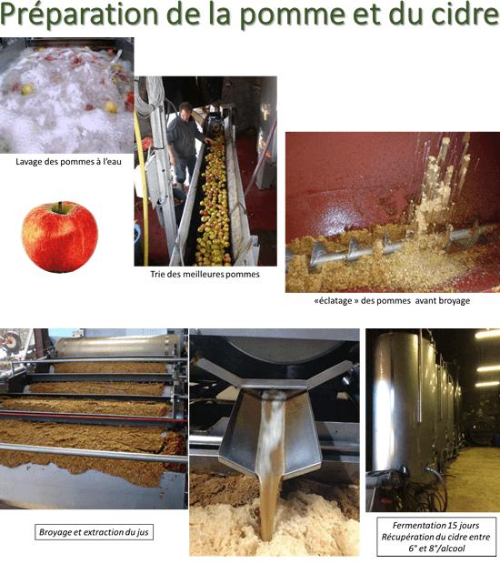 Préparation de la pomme et du cidre